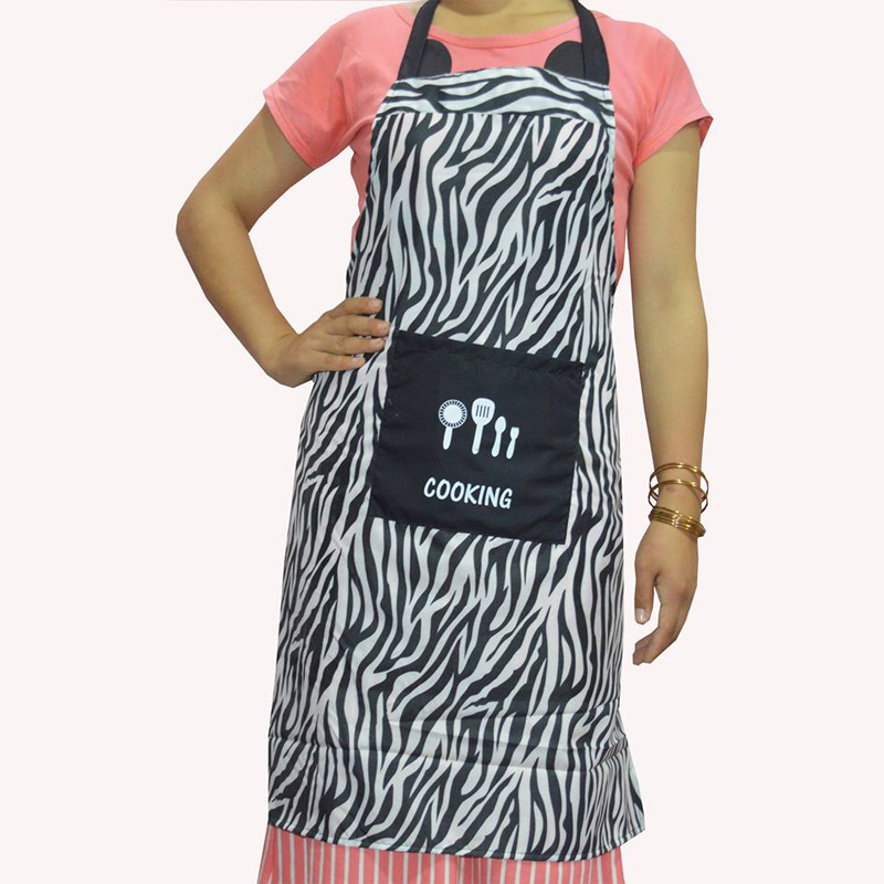 Black & White Wave Printed Waterproof Apron