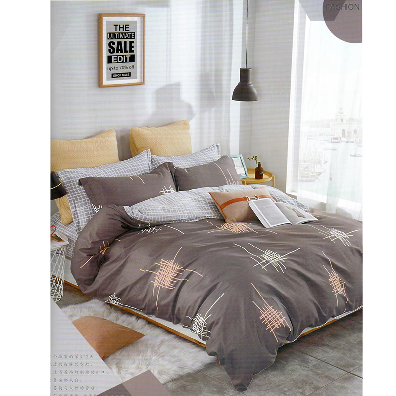 Chocolate Brown King Size 100% Cotton Bed Sheet With 2 Pillow Cover And 1 Bed Sheet