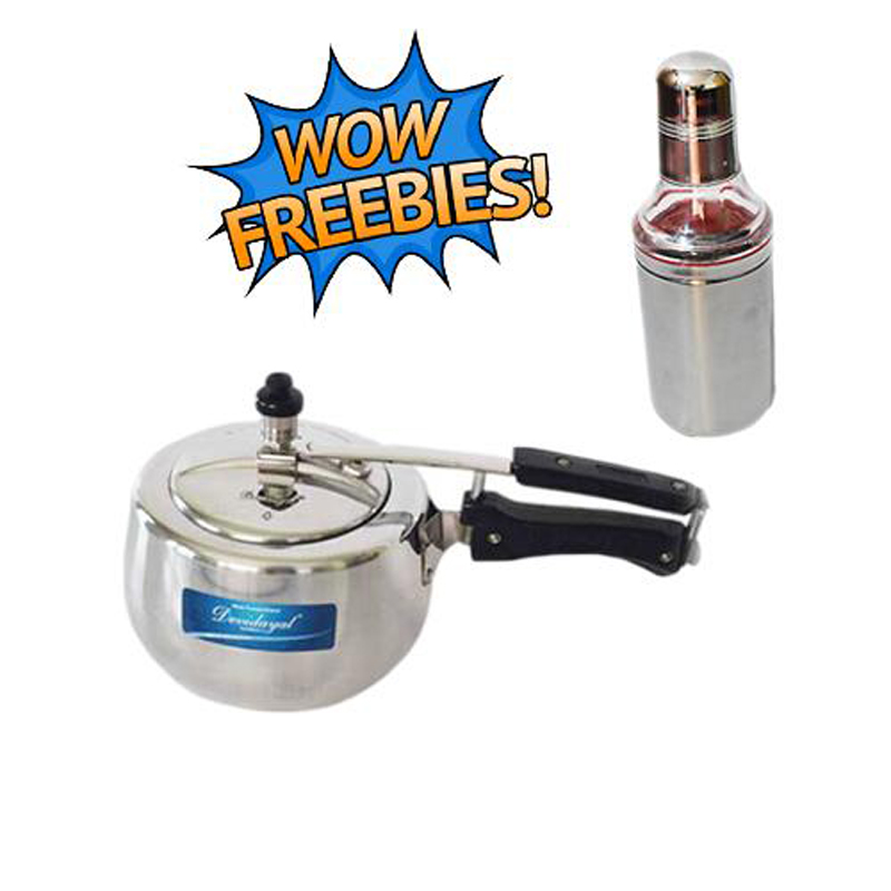 Buy 3 Liter Contura White Pressure Cooker Get 500 ml Stainless Steel Oil Bottle Free