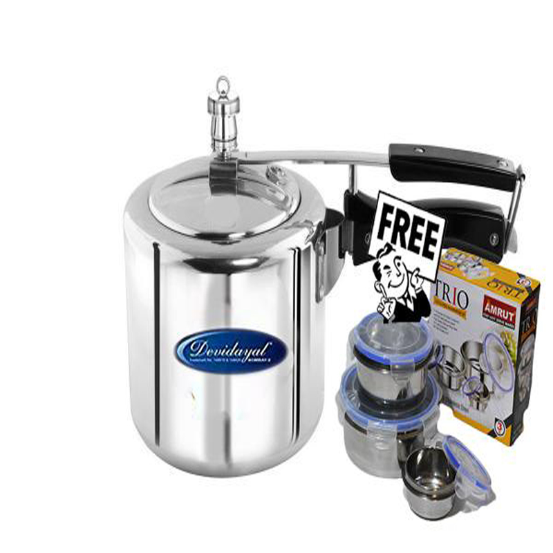 Buy 3 Liter Induction Pressure Cooker Get Click Lock Tiffin Free