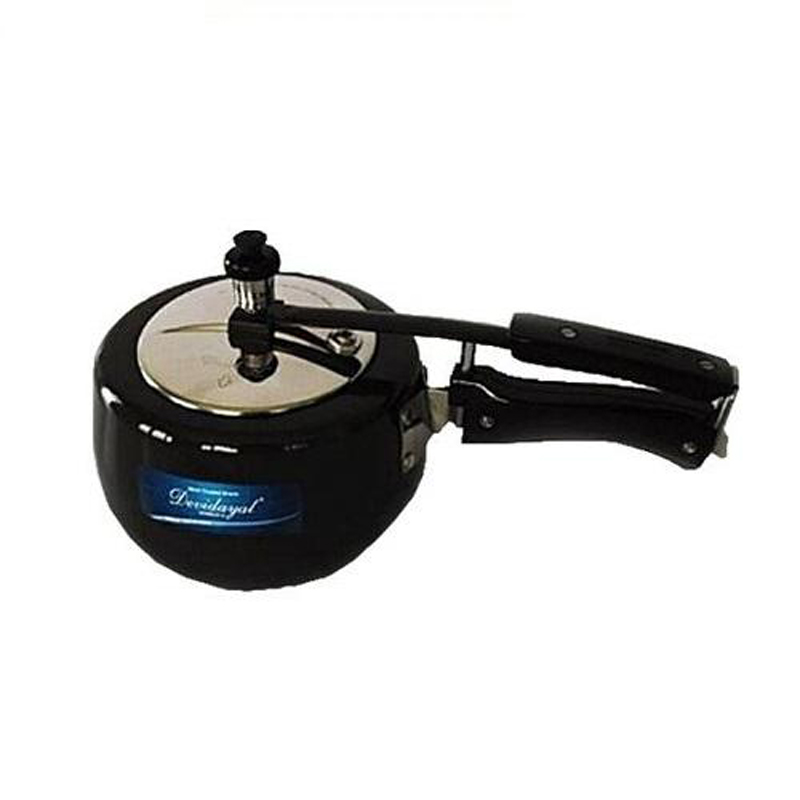 DeviDayal Hard Anodized Contura Pressure Cooker (Non Induction Base) – 3L
