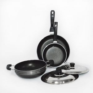 3 Piece Heavy Gauge Non Stick Cookware Set
