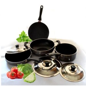 Classic Non Stick 7 Piece Cookware Set