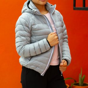 Silver Grey ultra Light 100% Super Down Jacket for Women