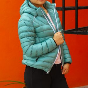 Aqua Green Ultra Light 100% Silicon Jacket for Women
