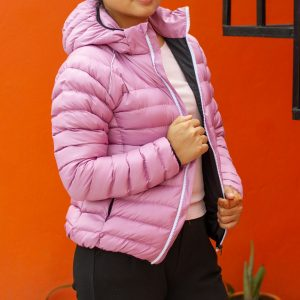 Pink Ultra Light 100% Silicon Jacket for Women