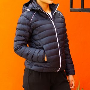 Navy Blue Ultra Light 100% Super Down Jacket for Women