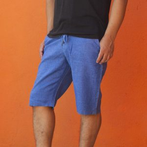 Men's Linen Slim Fit Half Pant