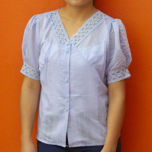 Net Embroidered Casual T-shirt for Women