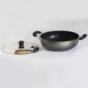 3 Liter Non Stick Kadai With Stainless Steel